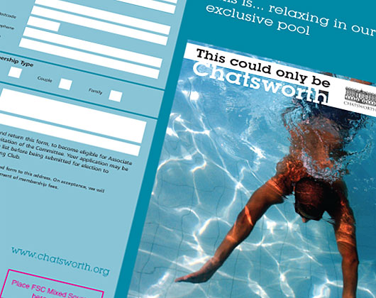 chatsworth house, derbyshire, swimming pool, leisure centre, print design bakewell