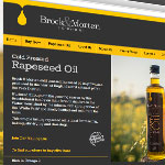 website and print design, web, print, brock and morten, rapeseed oil