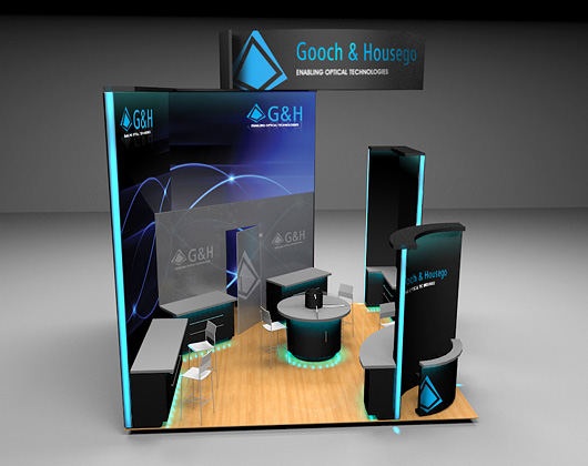 3d exhibition stand design for gooch and housego