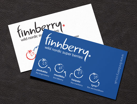 Finnberry nordic superberries, berry, branding and stationery, design, bakewell