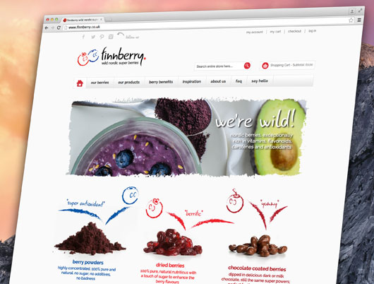 Finnberry nordic superberries, berry, website, bakewell