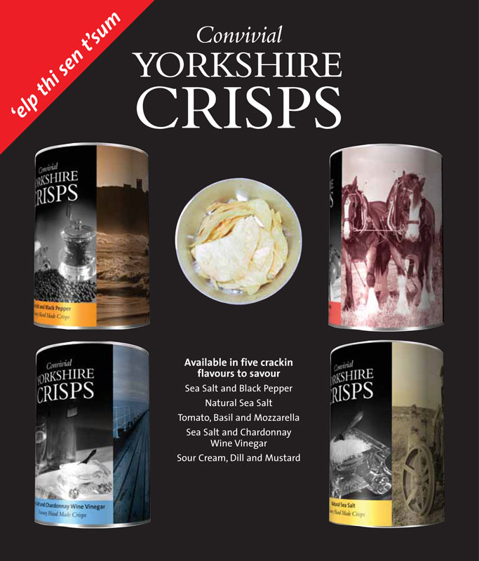 yorkshire crisps point of sale design bakewell