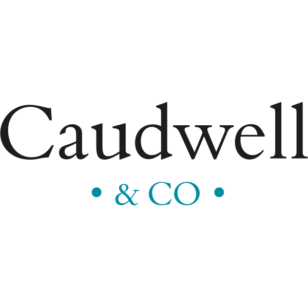 caudwell and co, property estate agent, branding logo, graphic design