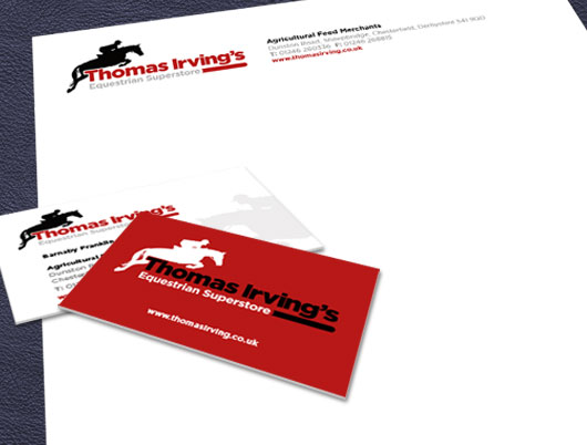 thomas irvings equestrian superstore, shop, branding, horse, design