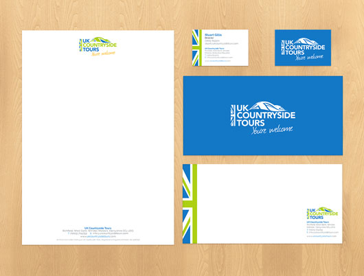 UK Countryside Tours, holidays, travel and tourism, branding, logo, graphic design